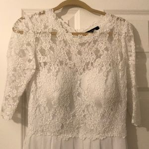 Ellen Tracy white dress